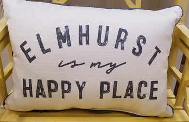 Elmhurst is my Happy Place Lumbar pillow