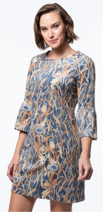 Sydney faux suede printed dress