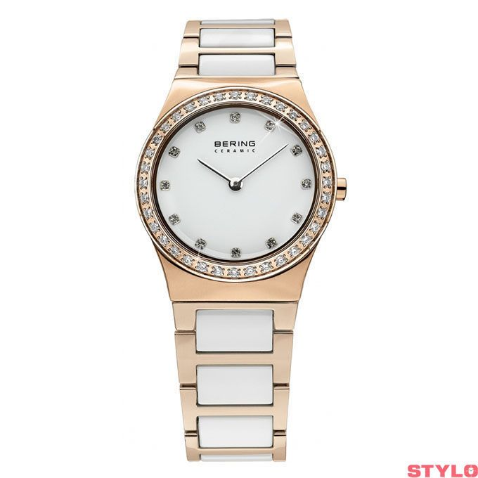 Bering Time Ceramic Polished Rose Gold Watch | 32430-761