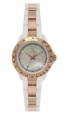 ToyWatch Rose Gold White Plasteramic Ladies Watch 28228-rg