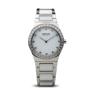 Bering Time Ceramic Polished Silver Watch | 32430-754
