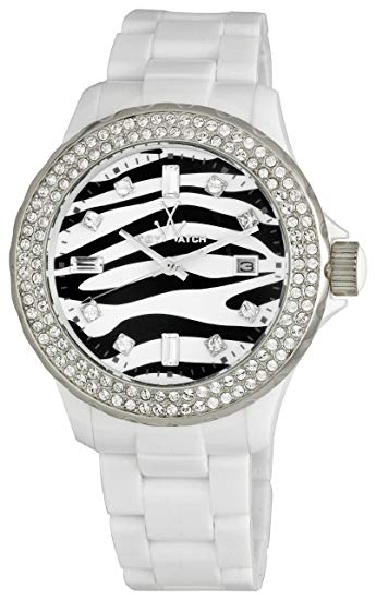 ToyWatch White Zebra Plasteramic Ladies Watch TZ52008-WH