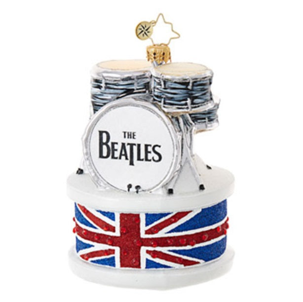 Christopher Radko Ringo Drum Set The Beatles Christmas Ornament