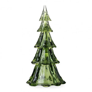"Berry & Thread 16"" Stackable Glass Tree Set/5 in Evergreen"