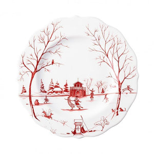 "Country Estate Winter Frolic ""The Claus' Christmas Day"" Ruby Dessert/Salad Plate"