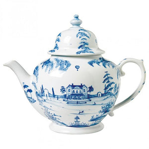 Country Estate Delft Blue Teapot Main House
