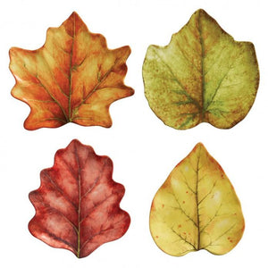 Forest Walk Leaf Cocktail Plate Set/4