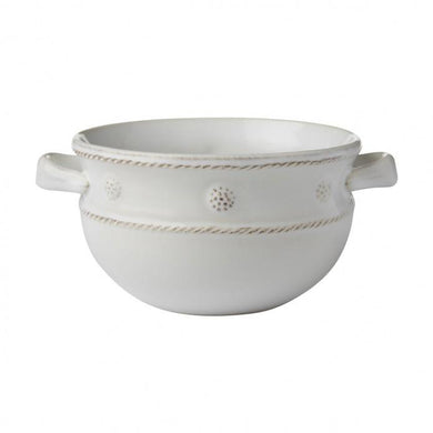 Berry & Thread Whitewash 2 Handled Soup/Chili Bowl