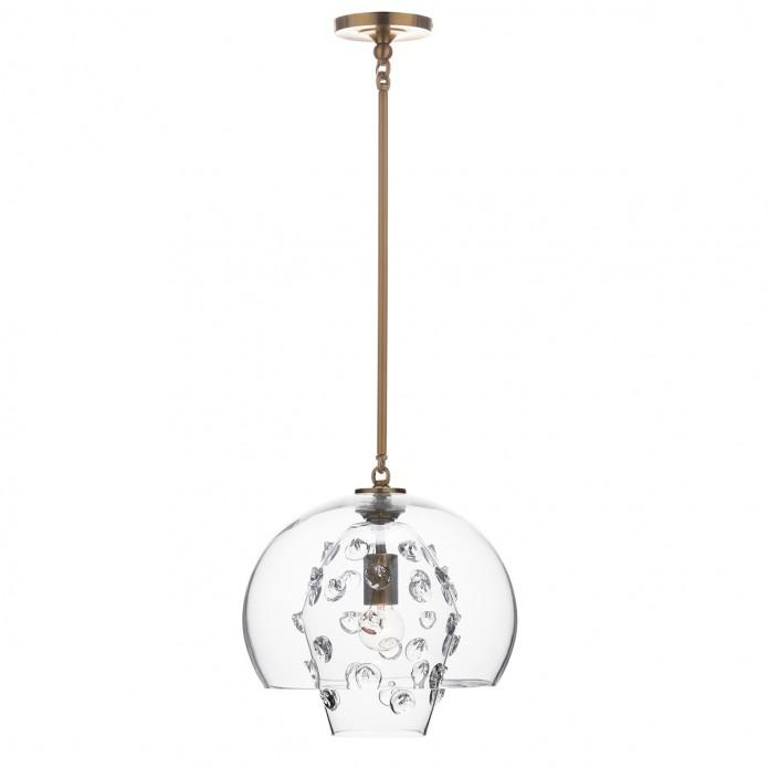 Florence Grande Double Shade Pendant in Brass