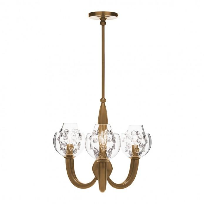 Florence Double Shade on Paris Chandelier in Brass