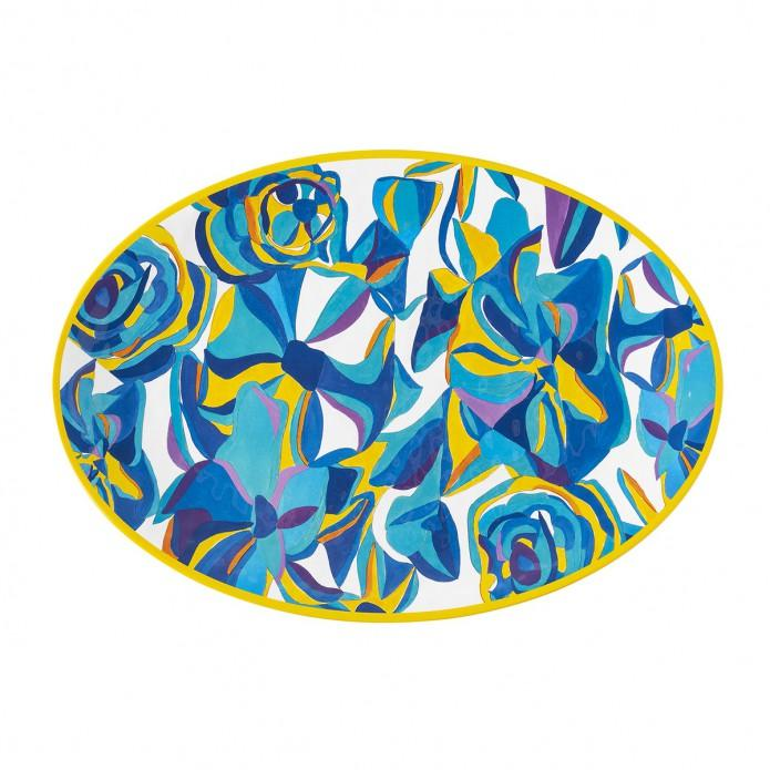 Blue Rose Melamine Serving Platter