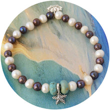 Pearl and Starfish bracelet Oceanic Pearl bracelet