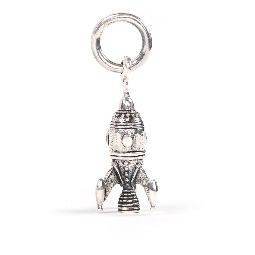 Redbalifrog Rocket Ship charm