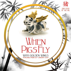 When Pigs Fly (with golden wings) Ltd Ed 2019