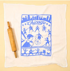 Flour Sack Towel Chicago 16 inch softball