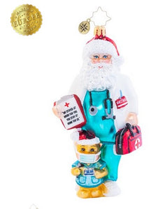 Dr Claus Cares Christopher Radko ornament