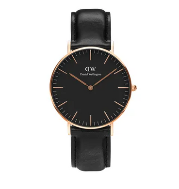 Daniel Wellington watch Classic Black Sheffield in Rose Gold 36mm