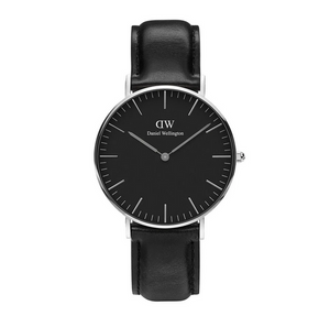 Daniel Wellington watch Classic Black Sheffield in Silver 36mm