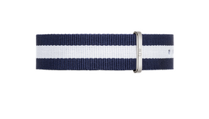 Daniel Wellington Classic Glasgow Strap for 40mm- in Silver