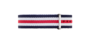 Daniel Wellington Classic Canterbury Strap for 36mm- in Silver