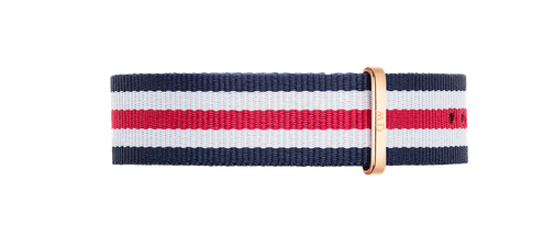Daniel Wellington Classic Canterbury Strap for 40mm- in Rose Gold