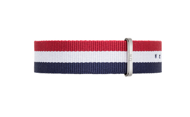 Daniel Wellington Classic Cambridge Strap for 36mm- in Silver