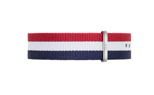 Daniel Wellington Classic Cambridge Strap for 40mm- in Silver