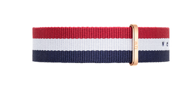 Daniel Wellington Classic Cambridge Strap for 40mm- in Rose Gold