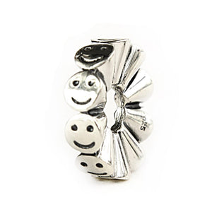 Elfbeads silver Happy bead aka smiley