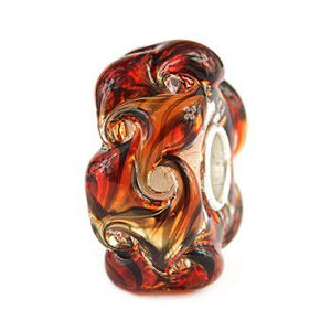 Elfbeads glass Tigerskin vortex bead