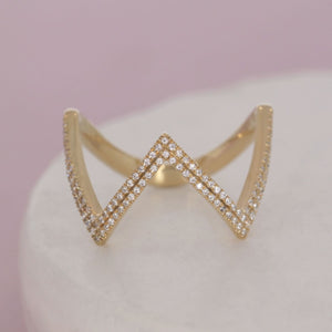 All Hail the Queen Diamond and sterling ring by Ella Stein