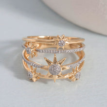 Bound for the Stars Diamond and sterling ring by Ella Stein