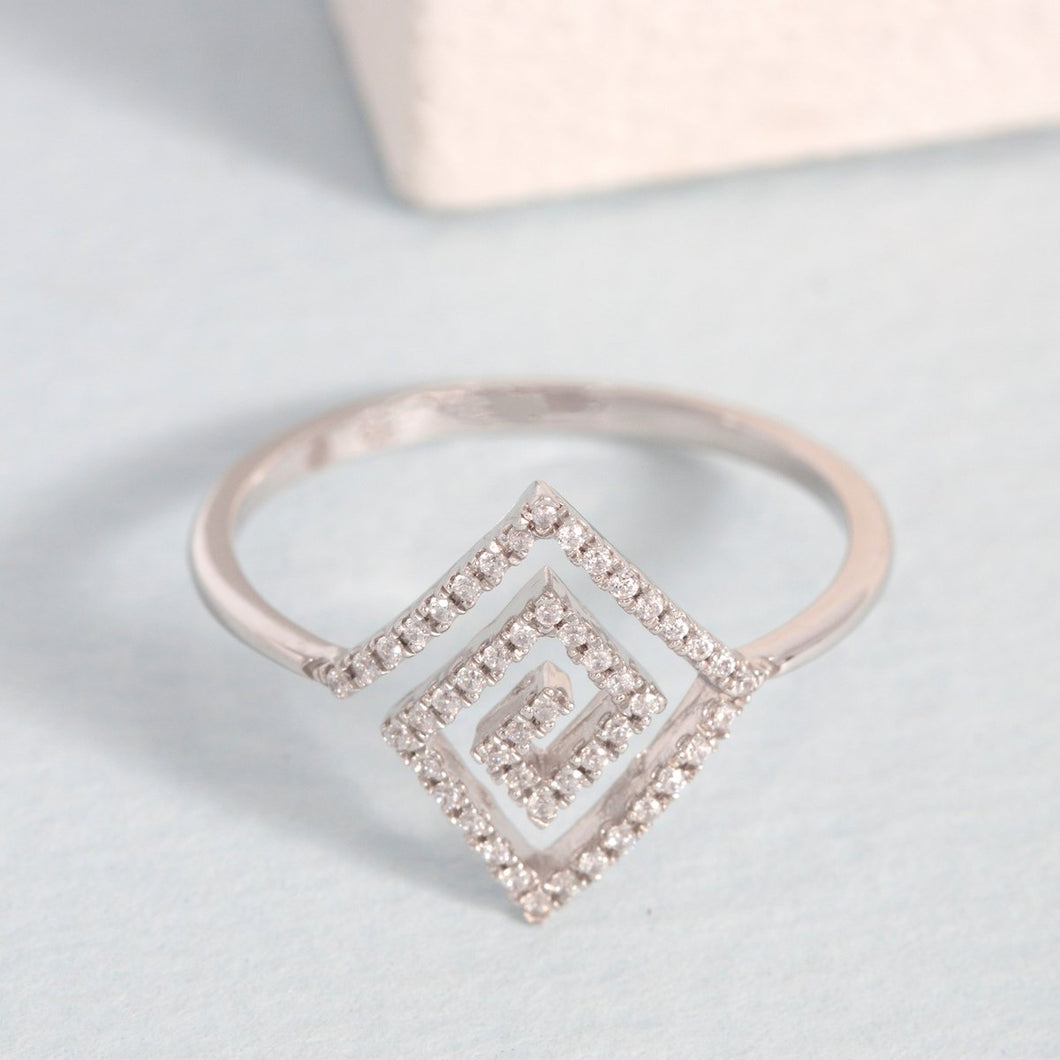 You are A-Maze ing Diamond and sterling ring by Ella Stein