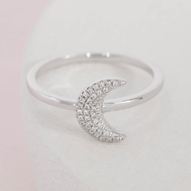 Mooning Over You diamond and  sterling silver ring by Ella Stein