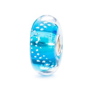 Silver Trace Bead, Turquoise