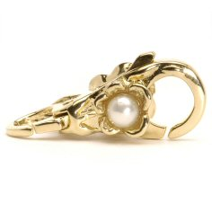 Flower/Pearl Lock, Gold
