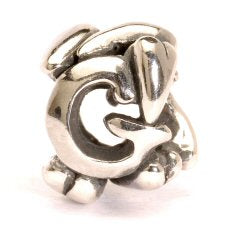 Letter Bead G, Silver