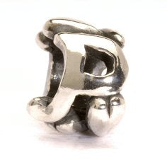 Letter Bead P, Silver