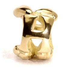 Letter Bead H, Gold