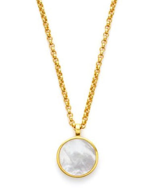Julie Vos Valencia Pendant Gold Mother of Pearl