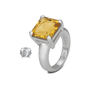 Metalsmiths Sterling- Square Prong Set Citrine Ring