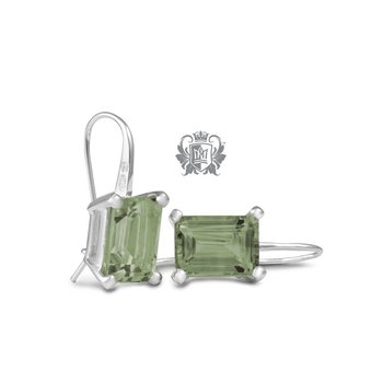 Metalsmiths Sterling- Peridot Rectangle Prong Set Earrings