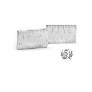 Metalsmiths Sterling- Ruler Cufflinks