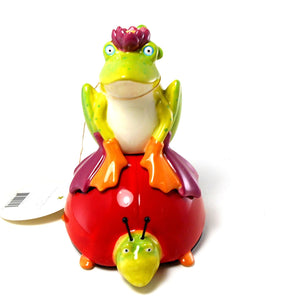 Frog & Ladybug Salt and Pepper by Patience Brewster