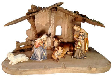 8 Piece Italian Carved Nativity Set