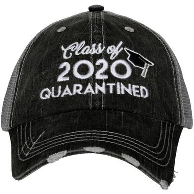 Trucker hat embroidered: Class of 2020 in Quarantine