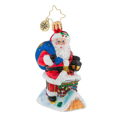 Christopher Radko Chimney Climber Santa Little Gem