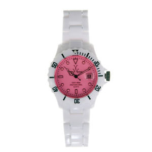ToyWatch White/Pink Plasteramic Ladies Watch FLO1WHPK