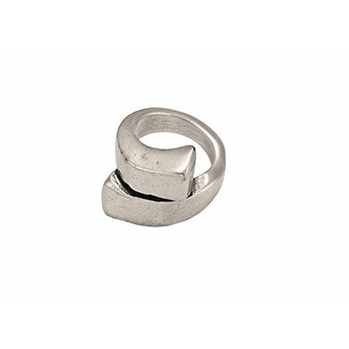 Women's Silver Plated sprial Ring Uno de 50