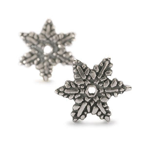 Snow flower pair of earring beads